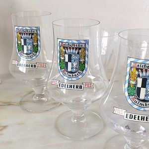 Vintage | 3 Crystal Pilsner Glasses